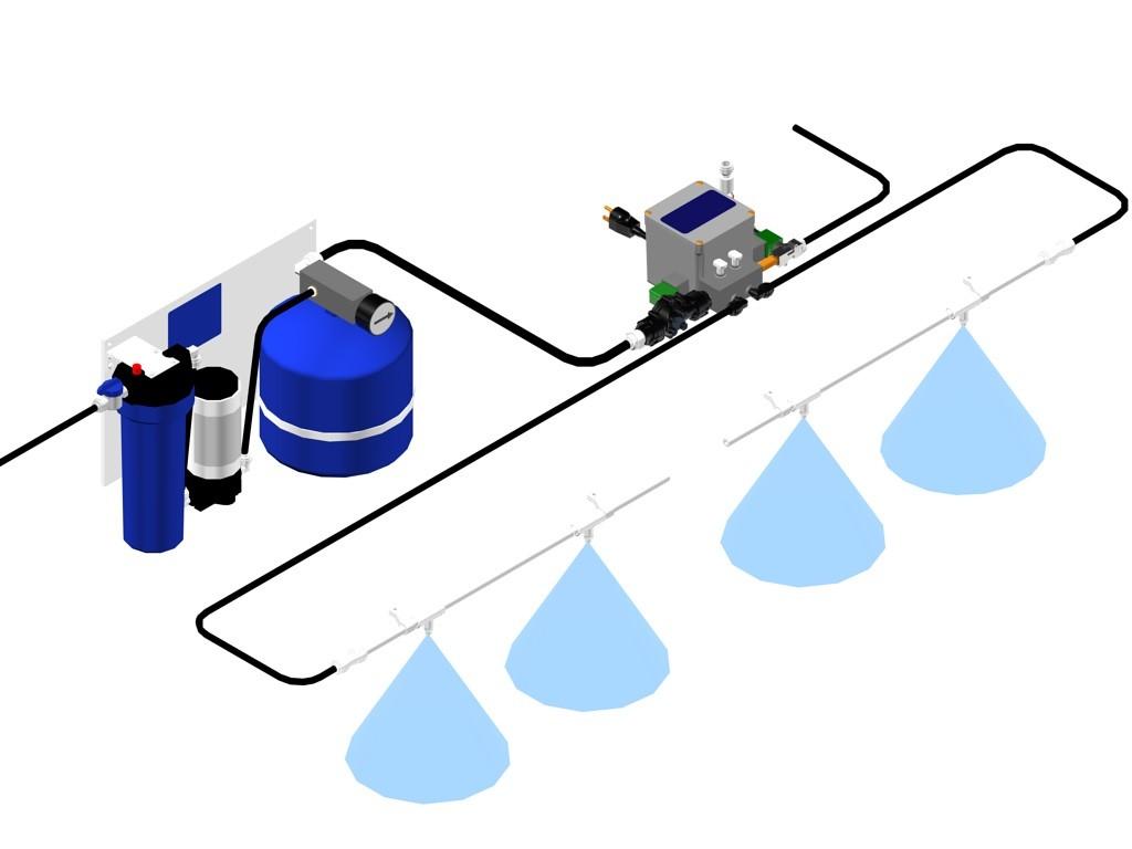 Water Mister System : Ultramist™ produce misting system corrigan mist