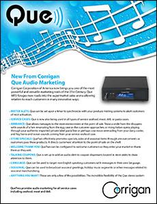 Que Audio Marketing Brochure