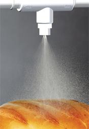 Gentle mist on the top of bread crust